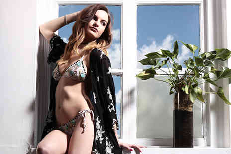 The Factory Covent Garden - Bikini photoshoot for 1 person including hair styling, makeup, 3 prints and unlimited bubbly  - Save 96%