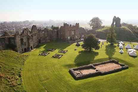 Tutbury Castle - Entry to Jacobites Event and Food and Craft Fair For Two  - Save 58%