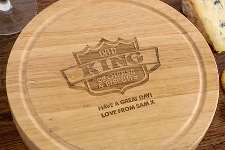 Getting Personal - A Choice of Personalised Wooden Cheeseboard Gift Sets - Save 40%