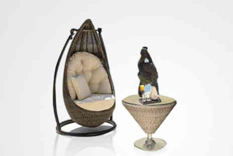 Banksy Trading - £189 for a fabulous rattan Egg Chair and Table Set worth £999  - Save 81%