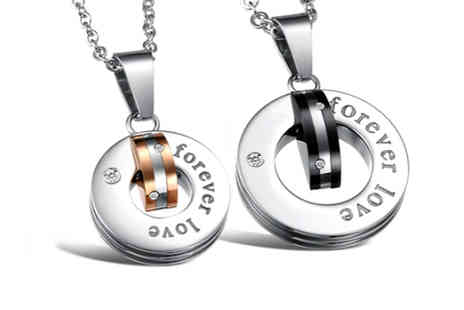 Cocobury - Forever Love Couple Necklace - Save 63%