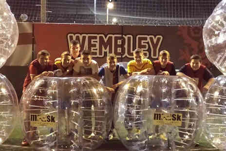 Mask Entertainment -  60 minute bubble football session for up to 15   - Save 47%