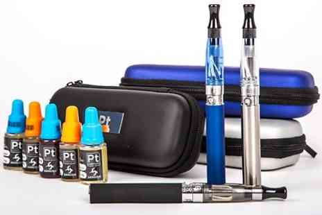 Phoenix Direct - Black, Silver or Blue PT Hangsen E-Cigarette Starter Kit, USB Charger, Case and 5 eLiquids With Free Delivery - Save 0%