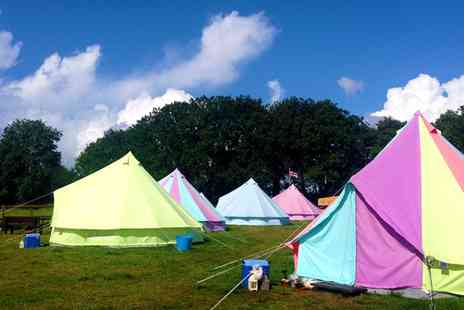 Botany Camping - Two nights in a bell tent  including BBQ kits & a bouquet - Save 39%