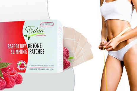 Eden Organic Care - One Month Supply of Raspberry Ketone Patches - Save 78%