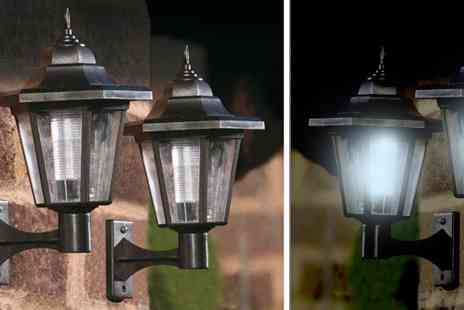 Verage Group - 2 x  LED Solar Powered Wall Lanterns - Save 0%