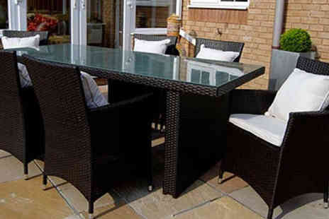 D1 Design & Creative - Rattan Rectangular Shape Dining Set - Save 48%