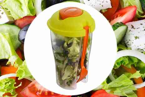 Premier Housewares - Salad to Go Pot with Dressing Container & Fork - Save 54%