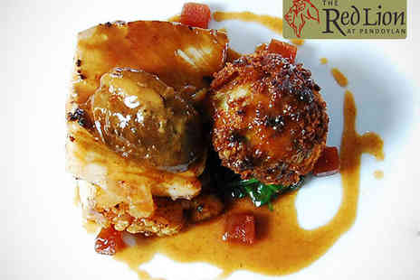 The Red Lion - Starter, Main Course, and Glass of Wine Each for Two  - Save 47%
