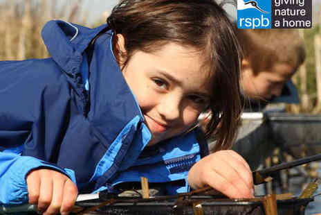 RSPB Fairburn Ings - RSPB Wildlife Reserve Day for Family of Four with Two Hot Drinks, Two Sweet Treats, Two Bags of Duck Feed, and Two Pond Dipping Kits - Save 52%