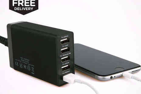 MyMemory -  Five Port USB Charger, Delivery Included - Save 0%