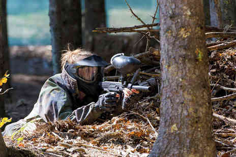Allout Paintball - Paintball with 100 Paintballs Each and Lunch for Five - Save 89%