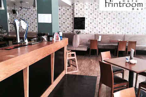 The Printroom Cafe Bar - Starter and Main Each for Two - Save 50%