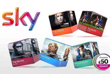 Sky - £9 for Up to 50% Off Sky TV for 12 Months  - Save 0%