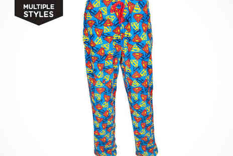 Fancy Suits - Mens Pyjama Bottoms in Choice of Cartoon Design - Save 50%