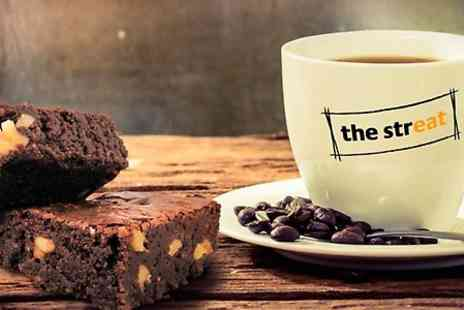 The Streat - Muffin or Tray Bake with Hot Drink  - Save 40%