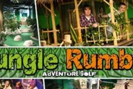 Jungle Rumble Adventure Golf - Crazy Golf and Two Pizzas For Family of Four - Save 59%