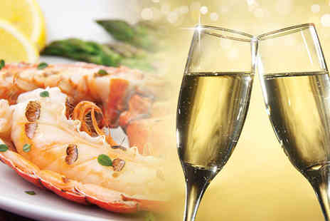Elysium - Lobster or steak meal for 2 including starter, side dish & glass of wine each - Save 33%