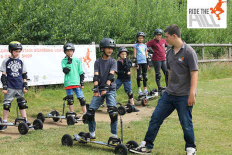 Ride the Hill - Hour Long Group Mountainboarding Lesson with Hour Long Follow Up Ride for Two - Save 48%