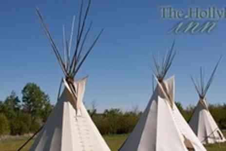 Hollybush Inn -: Two nights tipi hire for two plus one day canoe hire - Save 57%