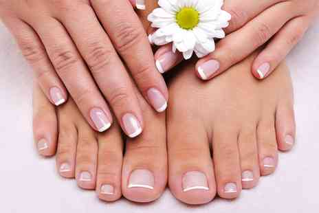 Scarletts Hair and Design - Deluxe Manicure or Pedicure - Save 50%