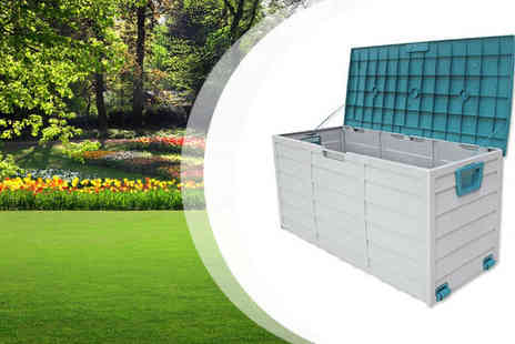Turborevs - Incredible Large 250L Rolling Garden Storage Box - Save 42%