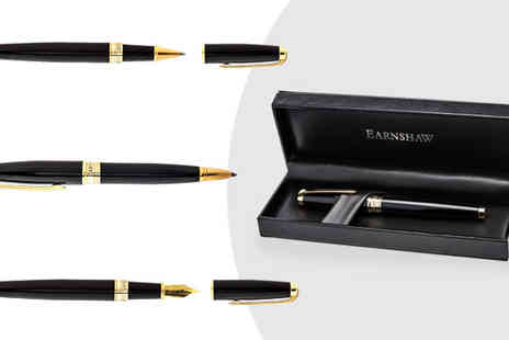 Dartmouth Brands - Choice of Earnshaw Gold Plated Pen - Save 76%
