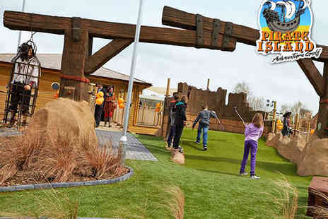 Pirate Island Adventure Golf - 18 Holes of Golf for a Family of Four  - Save 50%