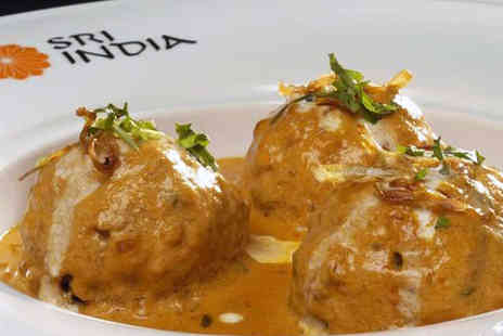 Sri India - Starter, Main Course, and Rice Dish for Two  - Save 64%