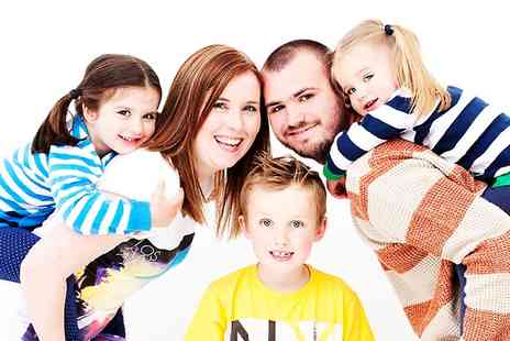 The Model Experience - Family Photoshoot Plus One Makeover For Up to 12 With Six Prints - Save 97%