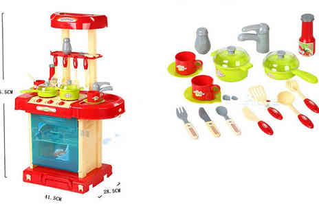 J & Y - 29 piece Kids Kitchen Play Set - Save 80%