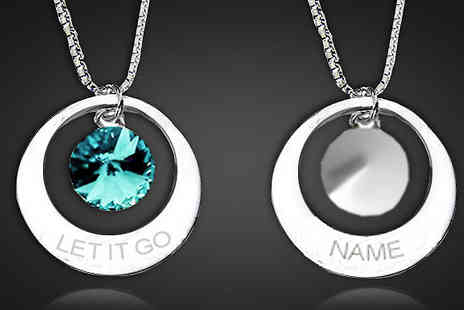 Jewelian - Personalised Let it Go Necklace - Save 82%