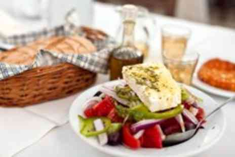 Parthenonas -  Greek meal for 2 with starters shots of Ouzo mains ice cream & coffee - Save 0%