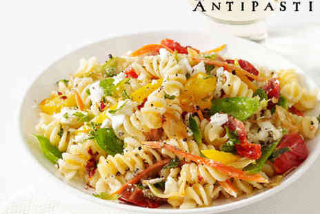 Cafe Antipasti  - Pizza, Pasta, or Risotto with a Side Dish to Share for Two or for Six with Three Side Dishes - Save 62%