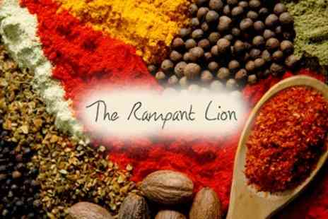 The Rampant Lion - Indian Sharing Platter for Two with Choice of TwoCocktails or Specialist Bottled Beers - Save 62%