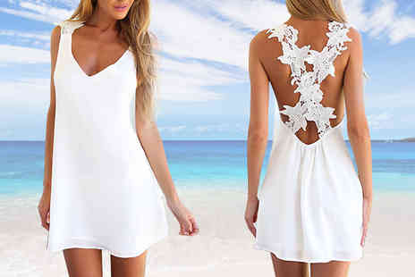 Beaches crazy - Floral Lace Summer Dress - Save 63%