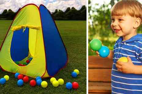 sssuperstore - Childrens Pop Up Play Tent and Soft Ball Pit with 100 Balls - Save 49%