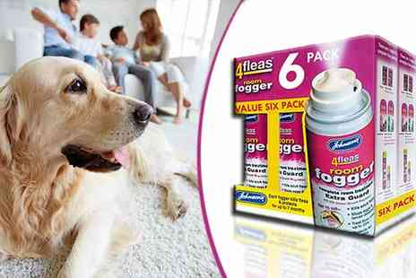 Qfonic Technology Distribution Network - 6 x Johnsons 4fleas Room Flea Bomb - Save 31%