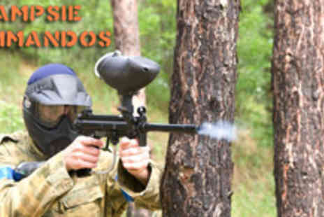 Campsie Commandos - Day of paintballing for 5 people including 100 paintballs each - Save 91%