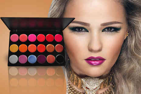 Quick Style -  18 shade lip gloss palette  - Save 83%