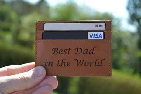 Design A Sign - Personalised Leather Card Wallet With Free Delivery  - Save 50%