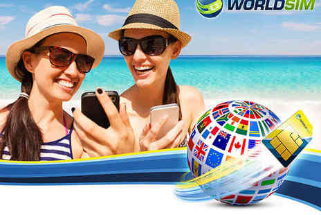 WorldSIM - Pay As You Go Travel SIM Card with £10 Credit - Save 70%