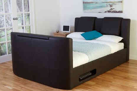 Ventura Incorporated - Concert TV and Sound Wireless TV Bed in Brown - Save 66%