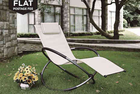 Hss - Moon Rocker Garden Chair  - Save 62%