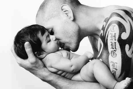 Photo Me Gorgeous - Father and Child Photoshoot With Print  - Save 79%