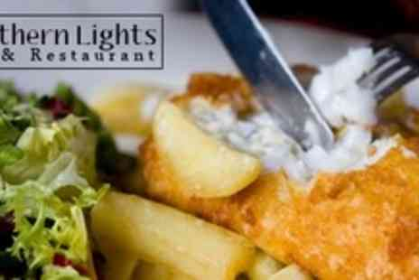Northern Lights Bar - Two Courses of Modern Scottish Fare For Two With Wine - Save 60%