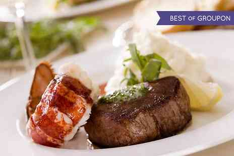 The Lobster House - Surf and Turf For Two  - Save 0%