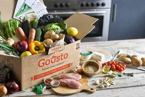 Gousto -  Gousto Recipe Box With Free Delivery - Save 60%