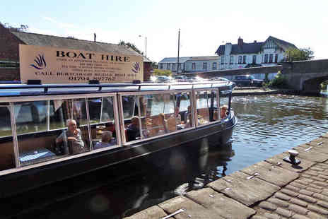 Blue Swan Boat Hire - Afternoon Tea Canal Cruise for One  - Save 64%
