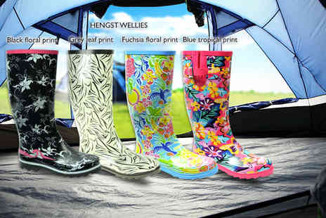 Mrs Marcos -  Pair of stylish summer festival wellies  - Save 66%